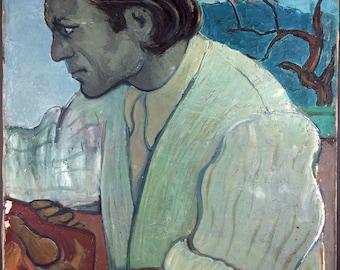 Jac Adam (1918-2003) Antique Oil Painting Vintage Original Ancien Tableau Peinture Huile