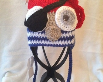 Pirate Owl Hat 3-6 months