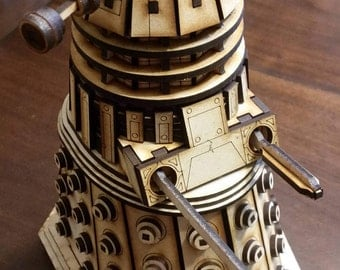 Similar to Dr.Who Dalek wood laser cut model