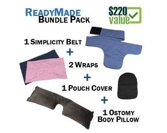 PouchWear ReadyMade Bundle Pack: 1 Simplicity Belt + 2 Wraps + 1 Pillow + 1 Pouch Cover