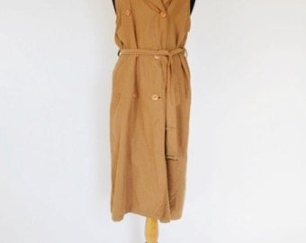 Sleeveless Trench / Long Vest (Modified Vintage)