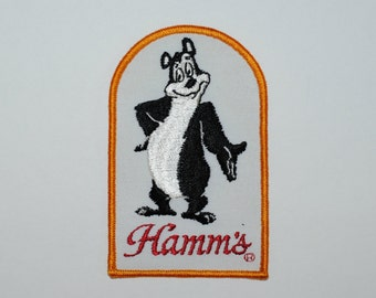 Hamm's Beer BEAR Patch, 1970's Hamm's Brewing Company Bear Patch, Hamm's Beer Never Used Patch, Collectible Patch