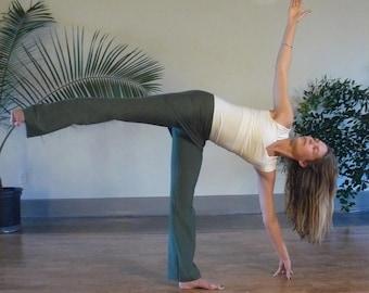 Organic Cotton Yoga & Maternity Pants - Forest Green