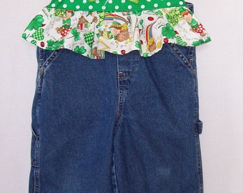 Custom boutique little girls St. Patrick's Day overalls all sizes available