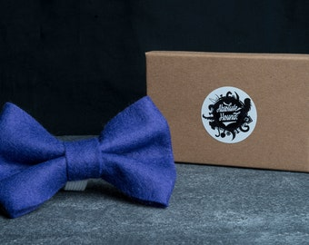 Dog Bowtie - Collar accessories - Handmade felt bow tie - idea gift for dogs and puppies - Purple