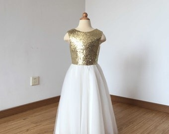 Gold and White Dress Girl