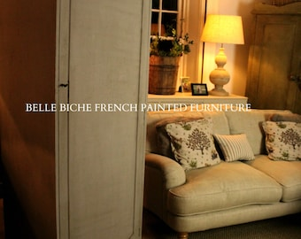 For Sale  Splendid French Grey Single Door Linen /Larder / Robe