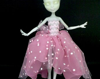 monster high clothes, handmade, outfit Mh, mh clothes for monster doll dress, doll clothes for Monster, dressed fairy doll
