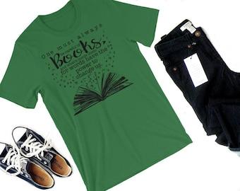 Careful of Books Shirt-- Clockwork Angel shirt, Shadowhunter, Will Herondale, Tessa Grey, Jem Carstairs, Infernal Devices, Bookish, Clare