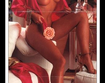 "Mature Playboy June 1983 : Playmate Centerfold Jolanda Egger 3 Page Spread Photo Wall Art Decor 11"" x 23"""