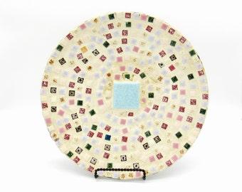 Decorative Plates, Mosaic Art, Mosaic Sculpture, Mosaic Tile Art, Primitive Decor, Primitive Art, Plate Art, Vintage Home Decor, Home Decor