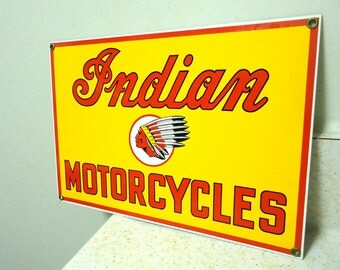 indian motorcycle sign porcelain,indian chief advertising sign,garage shop biker decoration