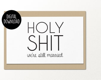 Mother definition printable greeting card printable holy sht were still married printable anniversary card digital download funny greeting m4hsunfo