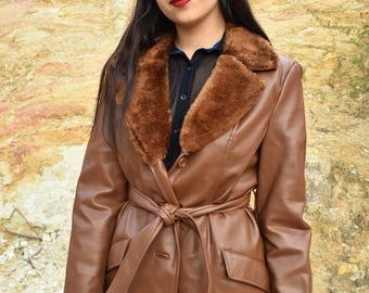 Vintage brown 70s coat