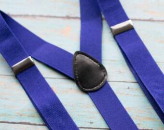 Royal Blue Suspenders for Kids - Boys Suspenders - Baby Suspenders - Toddler Boys Suspenders - Baby Boy Suspenders - Toddler Suspenders
