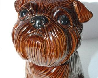 Brussels Griffon - Funny Pawls series, dogs ceramic figurine handmade statuette