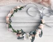 Bridal flower crown, Bridal floral crown, Floral wedding crown, Wedding flower headpiece, Wedding flower crown, Boho wedding