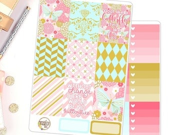 Butterfly Weekly Planner Sticker Kit for use in Erin Condren Planner