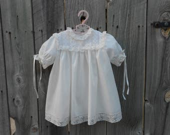 Girl's Dress  and slip - Heirloom Style - sz 12 months