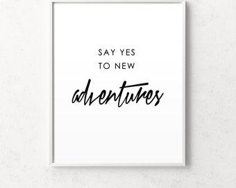 Inspirational print, motivational art, adventure print, adventure wall art, minimalist print, affiche scandinave, scandinavian print, nordic