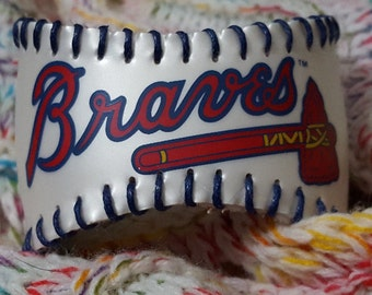 Atlanta Braves Baseball Cuff Bracelet