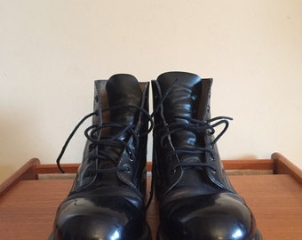 Vintage Blitrite Army Boots in Mens size 7 E. Steel Toe Combat Boots. Military Boots. Punk Boots.