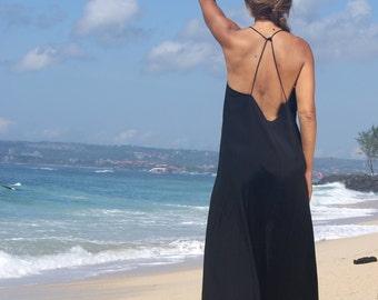 Backless Maxi Dress/Summer Maxi/bohemian backless dress/Beach dress/Chic backless dress * TUTI BACKLESS MAXI Beaded