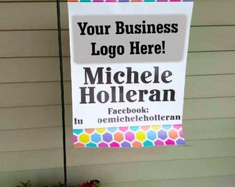 LLR sign Flag, Boutique Flag, Personalized Flag, LLR Garden Flag, Business flag, Small Business, Vendors