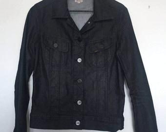 Ladies Lee Rider Black denim Jacket - Excellent condition!! Hardly worn!!!!!