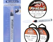 BeadSmith FIRELINE Thread, Beadalon WILDFIRE Premium Beading Threads or WILDFIRE Cord Cutter