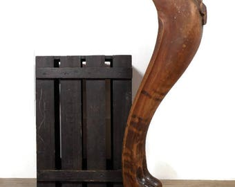 Claw Foot Table Leg, Salvaged Newel Post Baluster, Architectural Salvage Wood Baluster, Furniture Salvage, Antique Table Leg