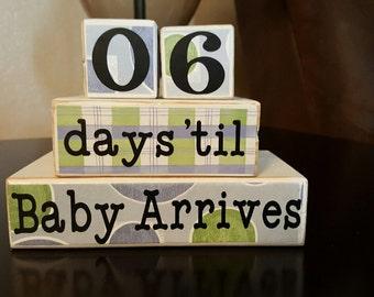 Countdown Baby Blocks