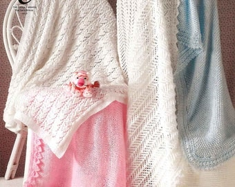 King Cole Knitting Pattern 2799~Four Gorgeous Shawls~DK~One Size