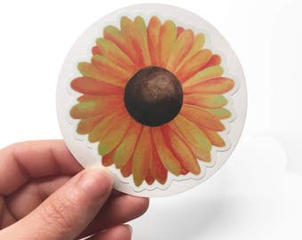 Sunflower Decal, Sunflower Sticker, Laptop Stickers, Laptop Decal, Car Decal, Car Sticker, Window Decal, Sunflower Decor, Vinyl Decal