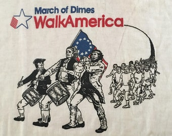Vintage March of Dimes Tee - Lehigh Valley - March of Dimes Tshirt - Vintage Ringer Tshirt - Large