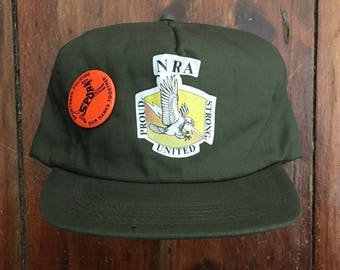 Vintage National Rifle Association of America NRA Snapback Hat Baseball Cap