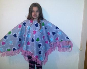 Winter ponchos for girls