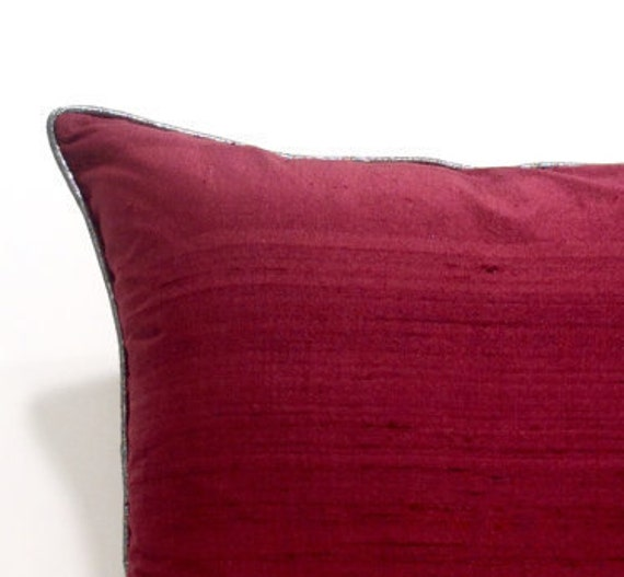 Burgundy Microfiber Throw Pillows : Items similar to Burgundy Throw Pillows,Silk Pillow Case,Burgundy Pillows,Textured Pillow Cover ...