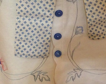 Vintage embroidered linen half apron cotton placemats vintage cotton lace ties