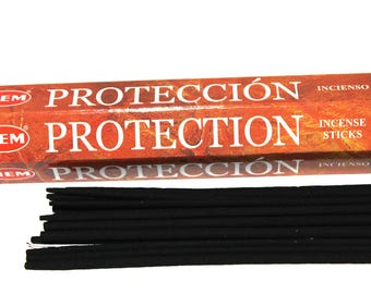 HEM Protection Incense Sticks, Indian Aromatherapy Incense, Pack Of 20 Sticks, Meditation Gift For Her Under 10, Reiki Cleansing, Spa Gifts