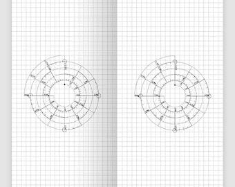 Traveler's Notebook Printable Insert Midori Chronodex Do1P - Daily View - Grid - Minimalist - Standard Size