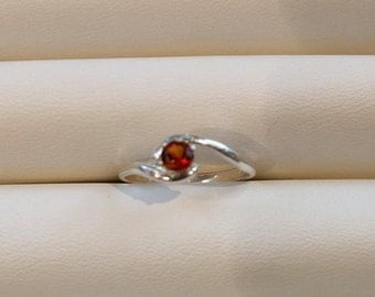 Fire Citrine silver ring