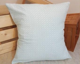 Geometric Mint Pillow Sham