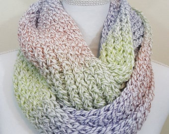 Multi Color Chunky Infinity Scarf