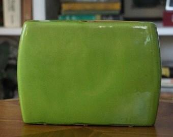 Modern Green Vase/Didier Blardat Paris/ Apple Green Vase/ MOD