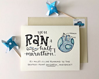 Half Marathon Card / Run 13.1 / Card for Half Marathon / Runner Gifts