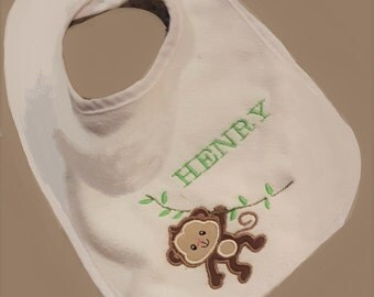 Embroidered Bib with Name