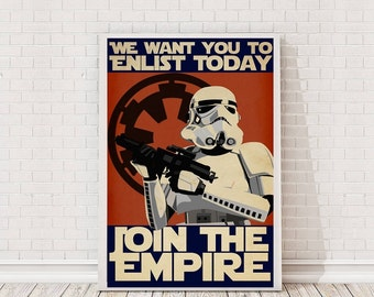 Star Wars Propaganda Poster Art Film Poster Movie Poster