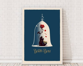 Beauty and the Beast Disney Poster Art Film Poster Movie Poster