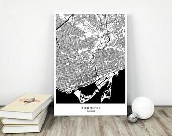 TORONTO City Map - DIGITAL Files - 5 DIFFERENT Sizes